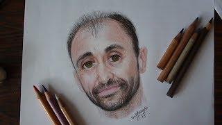 Cómo Hacer Un Retrato A Color - Retrato De Leonardo Pereznieto Arte Divierte