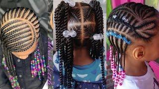 50+ Braids Hairstyles: Baby Girls Cornrows Braids Hairstyles💖💖🔥2020 Kids Hairstyles