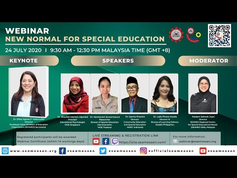 WEBINAR NEW NORMAL FOR SPECIAL EDUCATION - YouTube