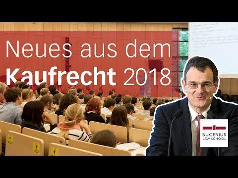 Von Parkettstäben, Spülmaschinen und Bodenfliesen – Kaufrecht  2018 | 1. Bucerius Law School Forum