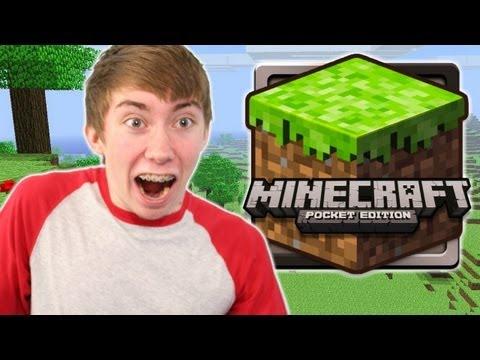 MINECRAFT: POCKET EDITION LITE (iPhone Gameplay Video)