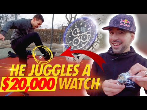 FREESTYLE WITH A ROLEX 20000 DOLLARS ! Honza Weber World champion footbag