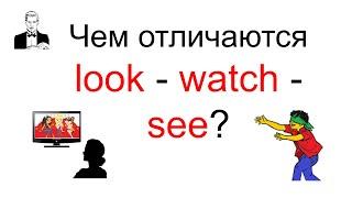 Чем отличаются глаголы LOOK - WATCH - SEE ?