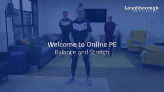 video: Join in with free online PE lessons: balance and stretch