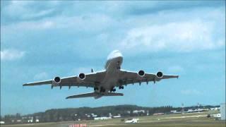Airbus A380 - décollage - demonstration en vol - attérissage