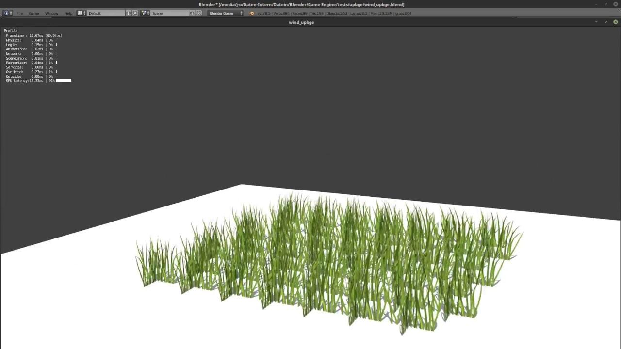 Blender Game Engine/UPBGE - UV-Space Wind