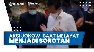 Jokowi Melayat Viktor Sirait, Aksinya Melepas Sepatu saat Akan Masuk ke Rumah Duka Menjadi Sorotan