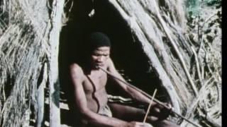 Botswana  San bushmen musical bow performance 1972