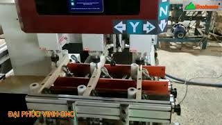 MÁY CNC MỘNG ÂM 3 TRỤC WOODMASTER đa dụng tại Cty Gỗ Thiên Định