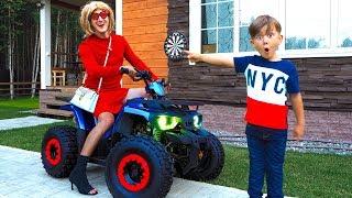 ЭТА ТЕТЯ Угнала Мой КВАДРИК! Смешное Видео от Супер Сени в Реальной жизни For kids