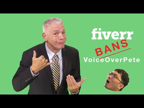 Voice over Pete gets banned from fiverr