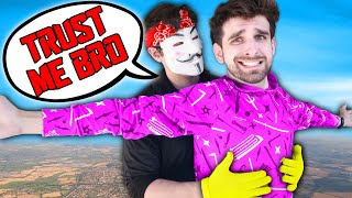 CAN HACKERS BE FRIENDS WITH SPY NINJAS? We Played Funny Trust Building Challenges for 24 Hours!