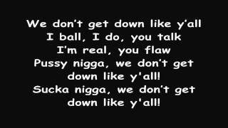 T.I. feat. B.o.B. - We Don't Get Down Like Y'all ( Lyrics on Screen )