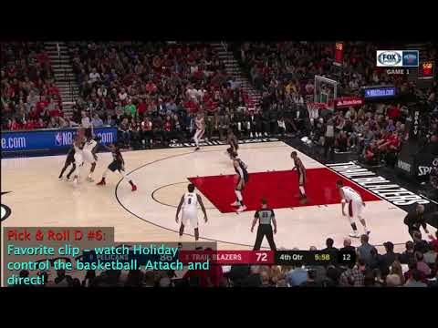 Jrue Holiday Defense Versus Damian Lillard