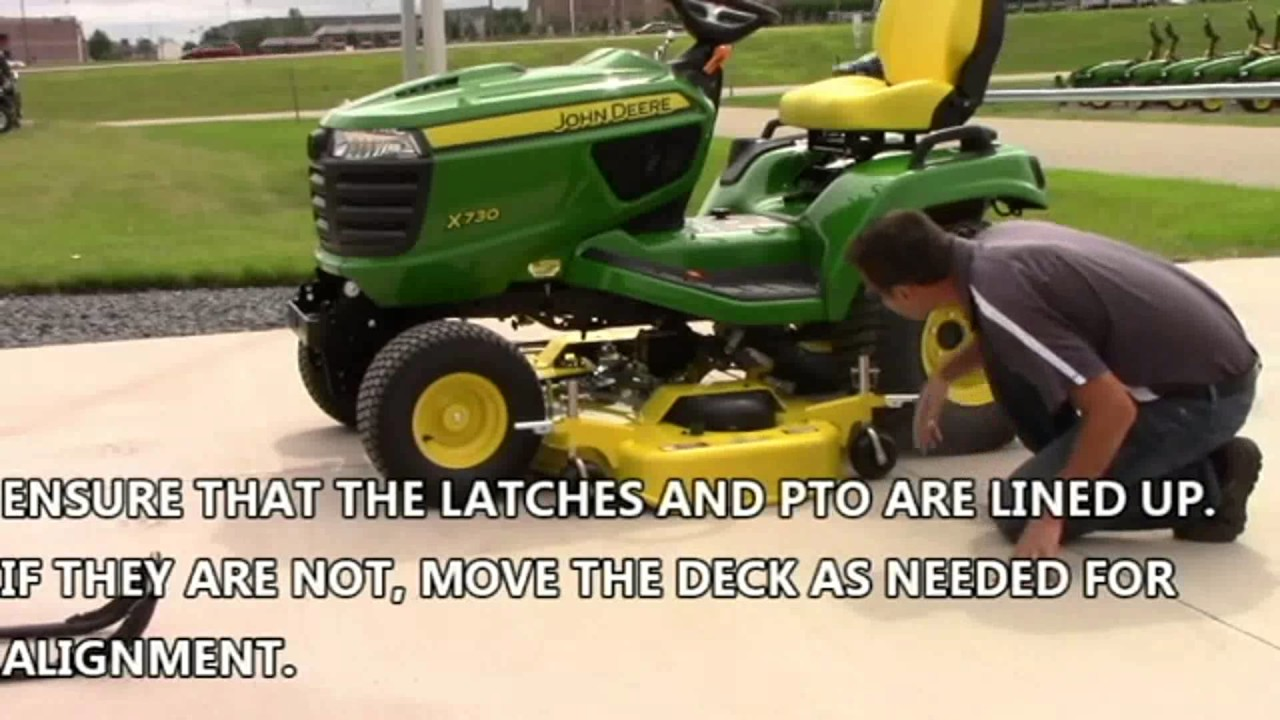 John Deere X700 2WD Mower Deck Removal and Install