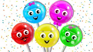 Lollipop Finger Family Song   Nursery Rhymes for Children by HooplaKidz EP 15