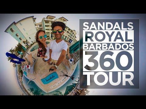 Sandals Royal Barbados Resort Tour in 360