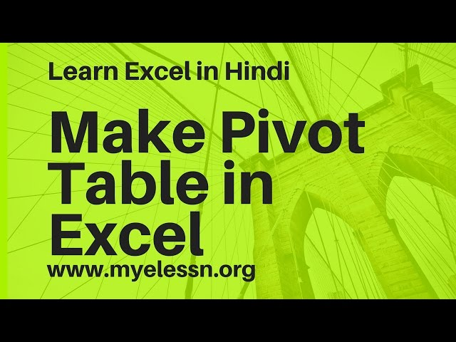 How to create chart in excel 2007 step by in hindi