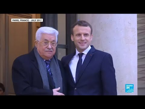 Palestinian Authority President meets Macron, seeks support for peace talks