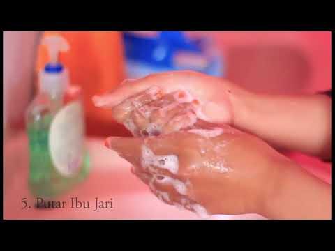 Cuci Tangan Dengan Benar, UKK Siswa SMK Wachid Hasjim Maduran, dibuat oleh Siti Sundary