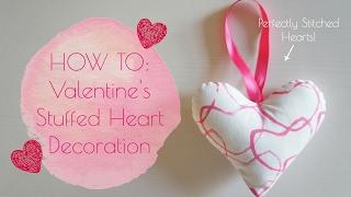 DIY Fabric Valentines Stuffed Heart Decorations