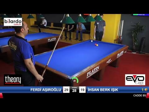 FERDİ AŞIROĞLU & İHSAN BERK IŞIK Bilardo Maçı - CADDE BİLARDO 3 BANT ÖZEL TÜRKİYE ŞAMPİYONASI-1. Tur