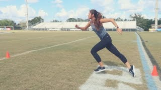 SHE SHOULD BE IN THE NFL COMBINE!