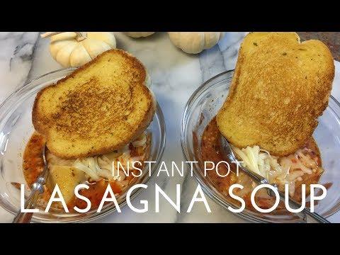 INSTANT POT + LASAGNA SOUP | PRESSURE COOKER RECIPE | COOK WITH ME
