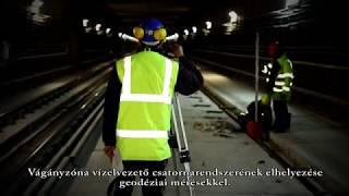 M3-as metró vágányépítés és csurgalékvíz elvezetés 2018. április