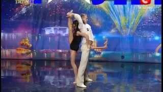 Duo Flame Dancers - Lara Fabian-Je t'aime @ Ukraine Got Talent