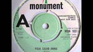 Tony Joe white.  Polk Salad Annie . 1967.