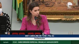 CCJC - SUBCOMISSÃO ESPECIAL CRIANÇA E ADOLESCENTE - Deliberações - 19/10/2021 10:00
