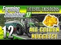 Farming Simulator 2017 Gameplay EP12 All Golden Nuggets Spending Spree PC HD Goldcrest Valley