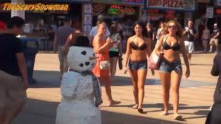 Boobs Show Girls Reaction | Snowman Tourist Scare | European People | January Season