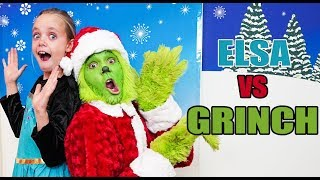 Elsa vs Grinch!  Who's the best Winter Character?