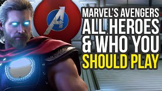 Marvel's Avengers All Characters Explained & Who You Should Play (Marvel Avengers All Characters)