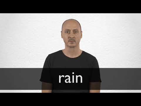 Rain Synonyms Collins English Thesaurus