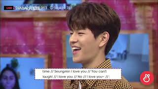 """After school club w/stray kids  playing """" I LOVE YOU """" Game"""