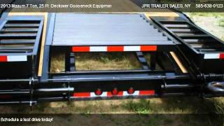 2013 Maxum 7 Ton, 25 Ft  Deckover Gooseneck Equipment Trailer  - for sale in Holley, NY 14470