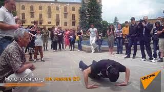 Житель Армении отжался 41 раз на тыльных сторонах ладоней