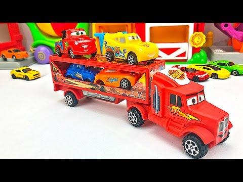 Camión Transportador de Autos para Niños - Cars de Colores - Videos Infantiles