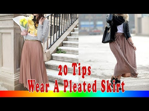 20 Style Tips On How To Wear A Pleated Skirt
