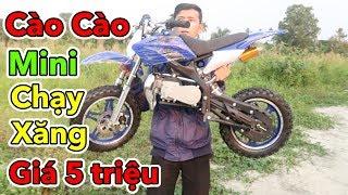 Lâm Vlog - Mua Xe Moto Cào Cào Mini 50cc Chạy Xăng Giá 5 triệu | Pocket Bike for Kids $200