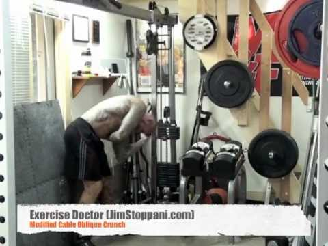 Modified Cable Oblique Crunch by Jim Stoppani