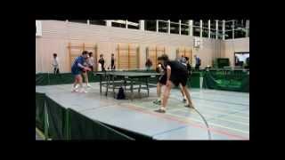 preview picture of video 'Tischtennis-Aufstiegsspiel: [ Erdweg gegen Starnberg ] Spiel 2'
