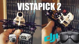 Vistapick 2 - 160g AUW 3inch DJI FPV - Caddx Vista Toothpick - HaloRC Guitarpick