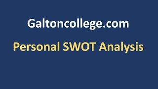 N0110F  Personal SWOT Analysis