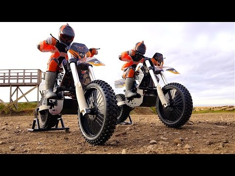 RC ADVENTURES – DUAL 1/4 scale ARX540 Motocross Bikes – First Run at the Track