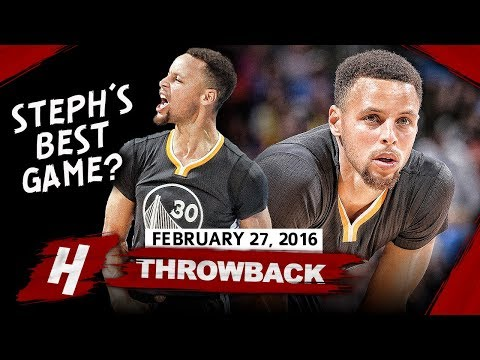 Stephen Curry GREATEST Game Ever! Full Highlights vs Thunder 2016.02.27 - 46 Pts, EPIC GAME-WINNER!