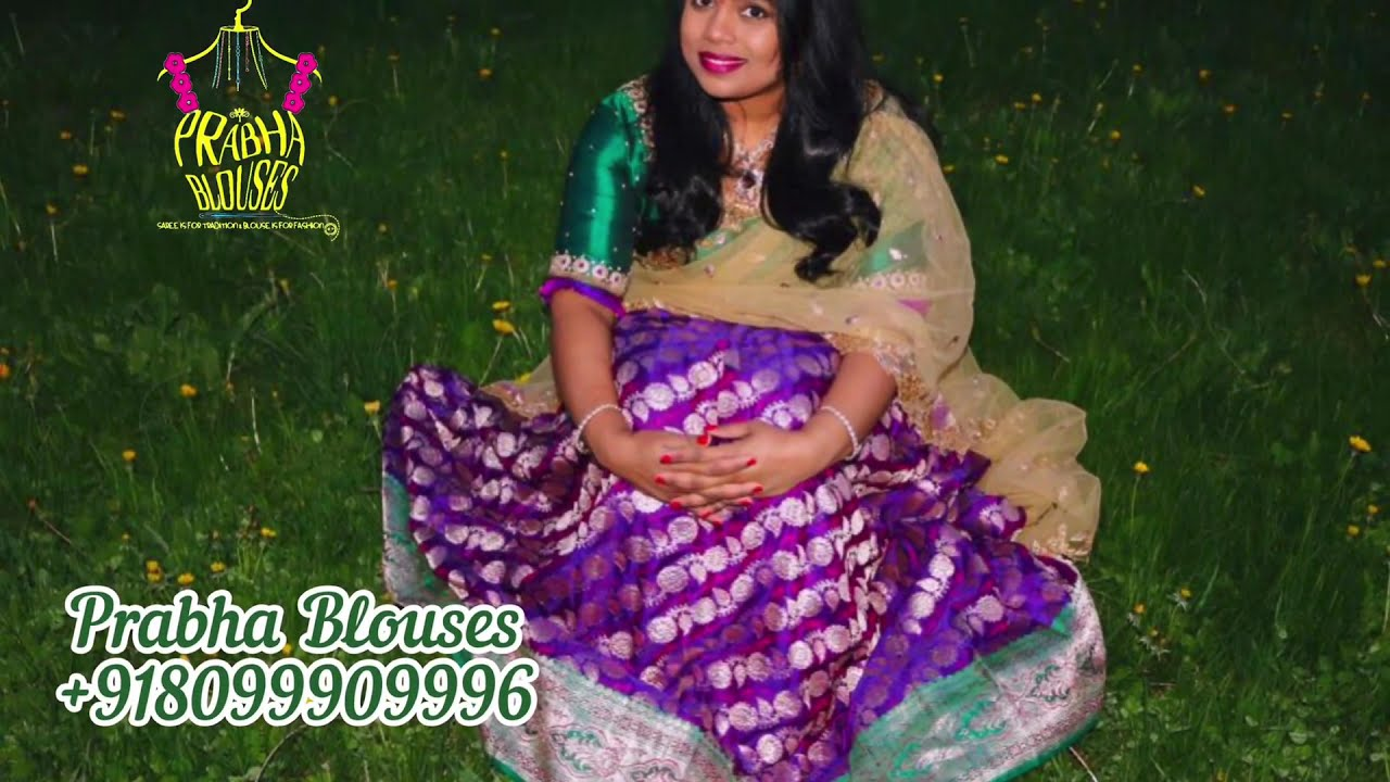 """<p style=""""color: red"""">Video : </p>Bottle Green Maggam Work Blouse 